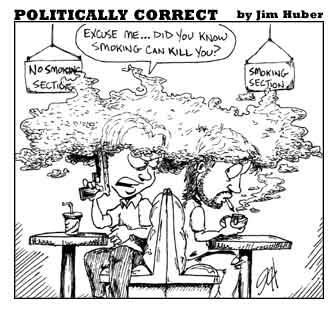 Smoking Kills cartoon by Jim Huber